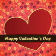Royalty-Free Stock Vector Image: Valentines Day card with red background
