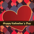 Valentines Day card with leafs background — Imagens vectoriais em stock