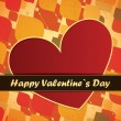 Valentines Day card with leafs background — Stock vektor