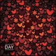 Stock Vector: Valentine day - seamless pattern