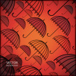 Umbrella - seamless pattern — Stock vektor