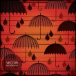 Umbrella - seamless pattern — Stock Vector