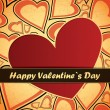 Royalty-Free Stock Векторное изображение: Valentines day card