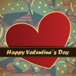 Valentines day card — Vector de stock #18889483