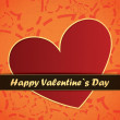 Vector de stock : Valentines day card