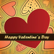 Stock Vector: Valentines day card