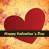 Valentines Day card with flowers and leafs background — Stock Vector