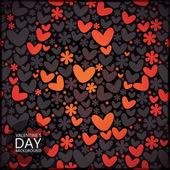 Dag van de valentijnskaart - naadloze patroon — Stockvector