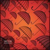伞-无缝模式 — 图库矢量图片