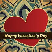 Valentines day card — Stock vektor