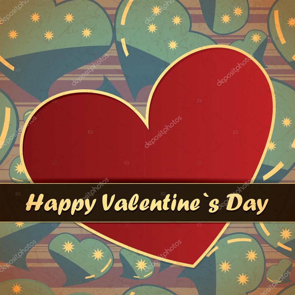 Valentines day card — Stock vektor #18889483