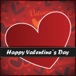 Valentines day card with heart - Stock Vector