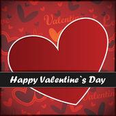 Cartão de dia dos namorados com coração — Vetor de Stock