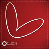Valentýn karty se srdcem — Stock vektor
