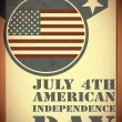Royalty-Free Stock Vector Image: Independence Day- 4 of July - grunge background
