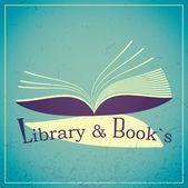 Kütüphane ve kitap — Stok Vektör