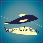 Water and animals — Stock Vector