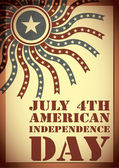 Independence Day- 4 of July - grunge background — Vector de stock