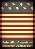 Dag van de onafhankelijkheid-4 juli - grunge achtergrond — Stockvector