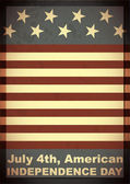 Independence Day- 4 of July - grunge background — Stock vektor