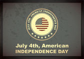 Independence Day- 4 of July - grunge background — Stock Vector