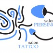 Piercing and tattoo symbol — Stock Vector