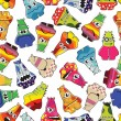 Monster seamless pattern — Stockvektor