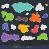 Printset av moln — Stockvektor