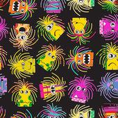 Monster seamless pattern — Stock Vector