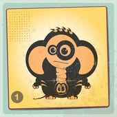 Elephant on grange vintage background — Stock Vector