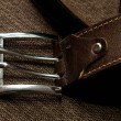 Stock Photo: Brown leather belt