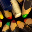 Colored pencils macro — 图库照片