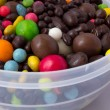 Colorful and chocolate candies — Stock Photo