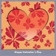 Stock Vector: Valentines day card with floral elements