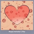 Valentine's day card with decorative abstract elements - Stock Vector