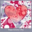 Stock Vector: Valentine's day card with decorative abstract elements
