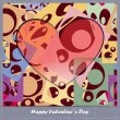 Royalty-Free Stock Vector Image: Valentine\'s day card with decorative abstract elements