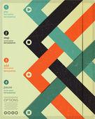 Banner cuatro infografía opciones — Vector de stock