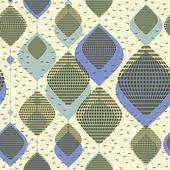 Dekorativa element på grå bakgrund - sömlösa mönster — Stockvektor