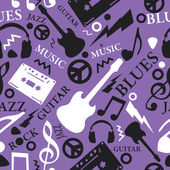 Music seamless pattern — Stock Vector