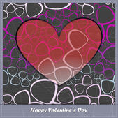 Valentine's day card with decorative abstract elements — Stockvektor