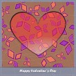Valentines day card with heart and abstract elements — Stock Vector #24876423