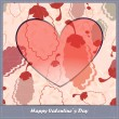 Valentine's day card with leaves — Stock Vector