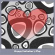 Valentines day card with heart and abstract elements — Stock Vector #24876429
