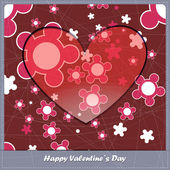 Valentines day card with heart and abstract elements — Stock Vector
