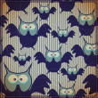 Stockvector : Seamless pattern with owl