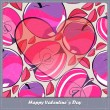 Royalty-Free Stock Vector Image: Valentines day card with heart and apples