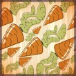 Seamless pattern with carrot. — Stock Vector