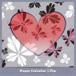 Valentines day card — Image vectorielle