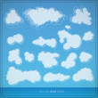 Stock Vector: Set of clouds, vector illustration